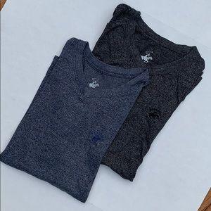 Beverly Hills polo club v neck t shirt x2